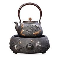 唐丰铁壶铸铁壶泡茶茶具烧水壶煮水器访日本涂层半手工老铁茶水壶