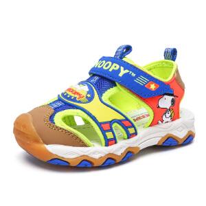 史努比童鞋新品简单休闲机能凉鞋