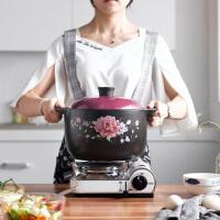 唯都稻香养生煲4.5L煲汤土砂锅炖整鸡陶瓷锅汤锅排骨炖锅彩色炖肉大砂锅