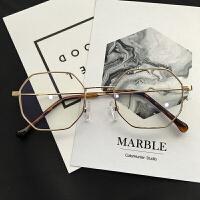 复古平光眼镜女圆脸网红同款眼镜框女原宿眼镜架近视眼镜
