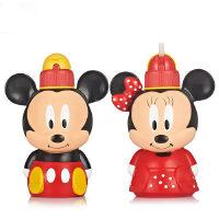 迪士尼卡通吸管水壶500ml创意吸管水杯米奇米妮公仔水壶WD-4250/4251