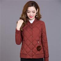 041234485女士小棉衣短款秋冬装新款韩版修身薄款中年轻薄棉袄外套