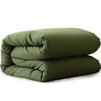 冬季保暖棉被学生宿舍棉被军被子劳保防寒被褥 军绿棉被 150*200