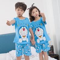 儿童睡衣男女童纯棉男孩大童薄款套装夏天小孩中童家居服