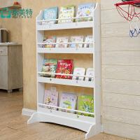 瑞美特儿童书架书柜简易落地书架置物架幼儿园绘本架书报架杂志架