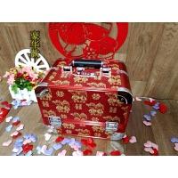 首饰盒结婚镜箱新娘密码箱珠宝钱箱百宝箱实木嫁妆镜箱陪嫁收纳盒