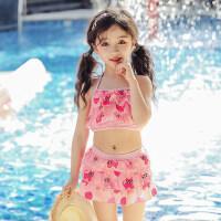 儿童游泳衣女童女孩泳装婴儿可爱女童防晒分体宝宝分体小中大童