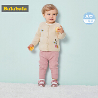 【三件4.5折价:71.55】巴拉巴拉女童毛衣婴儿线衫针织衫童装秋装2018新款柔软针织毛衣韩
