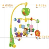 新生儿床铃0-1岁婴儿玩具3-6个月宝宝旋转床头风铃摇铃 小蜜蜂音乐床铃