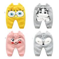 婴儿棉裤子男宝宝加绒加厚0岁3个月冬装打底裤冬季