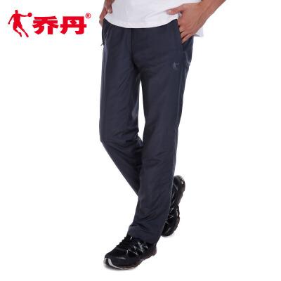 乔丹男裤运动裤2017冬季新款透气健身跑步休闲裤长裤男EYK4363375冬季尚新 拉链口袋 直筒修身