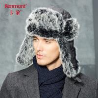 卡蒙男士棉帽子冬天护耳帽防泼水滑雪雷锋帽东北加厚户外加厚冬帽2698
