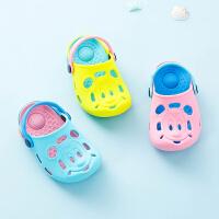 宝宝拖鞋男1-3岁软底防滑婴幼儿包头女童硅胶拖小童沙滩鞋