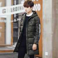 棉衣男士中长款加厚冬季外套迷彩韩版潮流修身帅气冬装棉袄子