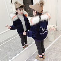 儿童棉衣2018新款外套大童装冬季短款棉袄女孩
