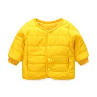 女宝宝衣服冬季0岁5个月男童上衣新生儿外套秋冬季婴儿加厚外出服