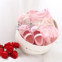婴儿公主范宝宝礼盒春夏初生儿套装满月周岁礼