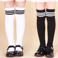 儿童高筒袜纯棉春秋薄款男童袜子女童过膝中筒袜宝宝足球袜长筒袜