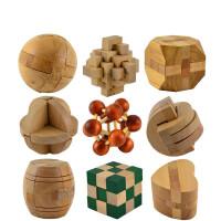 孔明锁 鲁班锁 木制幼儿园儿童拆装成人益智力玩具礼物方锁鲁班球