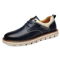 富贵鸟休闲鞋男鞋秋冬季新款运动板鞋男士户外皮鞋子男 A798052蓝色 40