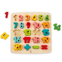 Hape四阶―数字启蒙立体拼图3-6岁积木拼插儿童早教益智启蒙玩具拼图拼板E1550