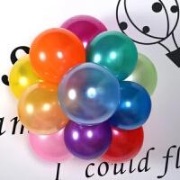 派对儿童珠光拱门场景婚庆结婚用品装饰生日婚房布置气球婚礼 220克混色100个