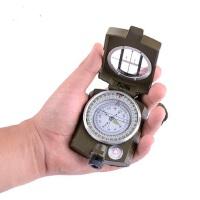户外多功能美式指南(北)针夜光防水地质罗盘仪小巧便携可背挂指南针
