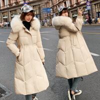 【极速发货 超低价格】棉服女中长款2020年新款冬季韩版宽松棉袄加厚面包服羽绒棉衣外套