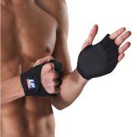 LP欧比运动护具 健身用手部护套750 健身半指手套护腕运动护掌 单只