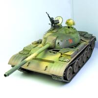 59式主战坦克 120mm炮改进型小号手军事拼装坦克模型1/35