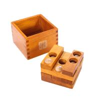 经典木制大号九连环中国古典益智玩具潘多拉魔盒28cm解孔明鲁班
