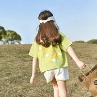 女童套装夏装中大童装短袖运动两件套