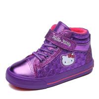 HELLO KITTY童鞋女童棉鞋加绒板鞋新款运动鞋儿童休闲鞋