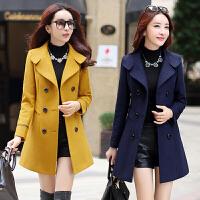 2018新款韩版中长款毛呢外套女冬季中年女士年轻妈妈装呢子大衣潮