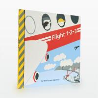 【99选5】美国进口 飞行指南 Flight 1-2-3 认识机场航空的各种图标【精装】