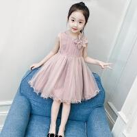 女童连衣裙夏装新款洋气童装女孩纱裙背心网纱裙子儿童公主裙