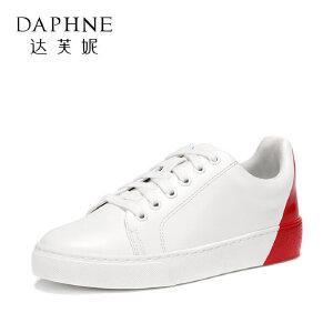 Daphne/达芙妮2018春季新款ulzzang原宿低帮鞋单鞋圆头小白鞋