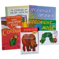 美国教育协会推荐推荐适合学龄前儿童9本套装The Very Hungry Caterpillar Goodnight Moon Bear Book 猜猜我有多爱你 送音频