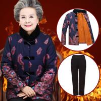 中老年女装棉衣老年人冬装60-70-80岁短款妈妈装外套加厚奶奶棉袄