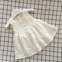 童装韩版婴儿裙宝宝背心裙子夏女童无袖蕾丝连衣裙纯棉公主裙