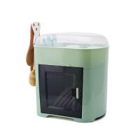 带盖碗柜放碗筷收纳盒沥水家用厨房经济型碗碟架多功能塑料收纳箱