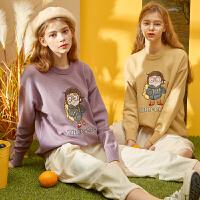 限时抢购价1292019唐狮秋冬季新款毛衣女学院风针织衫宽松百搭外穿套头绿色黄色