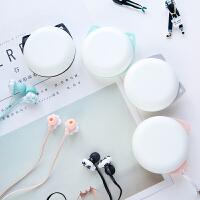韩国可爱猫耳耳机入耳式女生通用手机耳机带麦创意韩版迷你