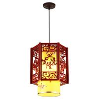 中式实木羊皮吊灯中国风客厅餐厅过道仿古古典灯茶楼工程风吊灯