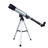 高倍高清单筒天文望远镜入门级天地两用儿童礼物 银色