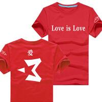 20180318000145141夏季篮球 马布里love is love男士休闲运动纯棉短袖T恤打底衫