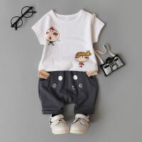 童装男童女宝宝夏装套装0-1-2-3-4岁女童婴儿衣服夏天潮