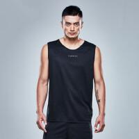 户外运动篮球服 无袖运动背心男士宽松速干训练比赛球衣