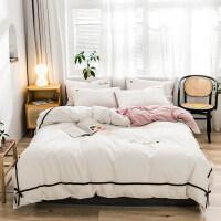 北欧风双人全棉四件套床单被套床品套件纯棉三件套网红款床上用品 四件套-1.5m床-床单款 (适用2.0x2.3m