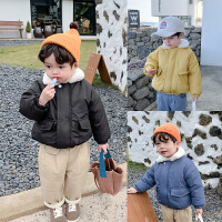 童装男童冬装棉衣外套儿童短款棉袄潮